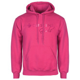 Fuchsia Fleece Hoodie-Crescent Girls