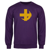 Purple Fleece Crew-Crescent