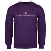 Purple Fleece Crew-Lifetime of True Brotherhood