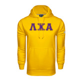 Under Armour Gold Performance Sweats Team Hoodie-Greek Letters Bold