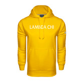 Under Armour Gold Performance Sweats Team Hoodie-Lambda Chi Flat