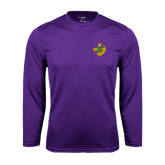 Performance Purple Longsleeve Shirt-Crescent Friendship Pin