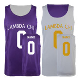Purple/White Reversible Tank-Lambda Chi Arch