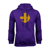 Purple Fleece Hoodie-Crescent