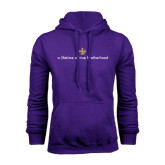 Purple Fleece Hoodie-Lifetime of True Brotherhood