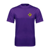 Performance Purple Tee-Crescent Friendship Pin