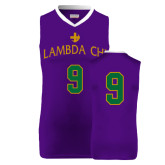 Replica Purple Adult Basketball Jersey-Lambda Chi Arch
