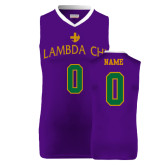 Replica Purple Adult Basketball Jersey-Greek Letters, Personalized