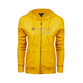ENZA Ladies Gold Fleece Full Zip Hoodie-Crescent Girls