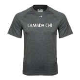 Under Armour Carbon Heather Tech Tee-Lambda Chi Flat