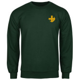 Dark Green Fleece Crew-Crescent