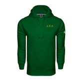 Under Armour Dark Green Performance Sweats Team Hoodie-Greek Letters