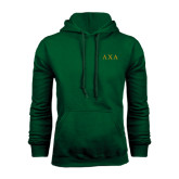 Dark Green Fleece Hood-Greek Letters