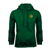 Dark Green Fleece Hood-Crescent Friendship Pin