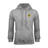 Grey Fleece Hoodie-Crescent Friendship Pin