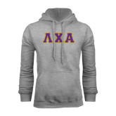 Grey Fleece Hoodie-Greek Letters Tackle Twill