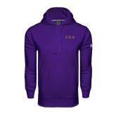 Under Armour Purple Performance Sweats Team Hoodie-Greek Letters