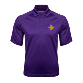 Purple Textured Saddle Shoulder Polo-Crescent