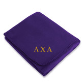 Purple Arctic Fleece Blanket-Greek Letters