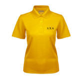 Ladies Gold Dry Mesh Polo-Greek Letters