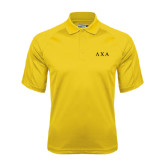 Gold Dri Mesh Pro Polo-Greek Letters