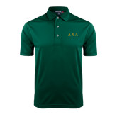 Dark Green Dry Mesh Polo-Greek Letters