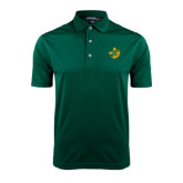 Dark Green Dry Mesh Polo-Crescent Friendship Pin