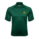 Dark Green Textured Saddle Shoulder Polo-Crescent Friendship Pin