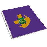 College Spiral Notebook w/Clear Coil-Crescent Friendship Pin