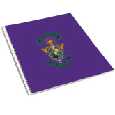 College Spiral Notebook w/Clear Coil-Coat of Arms