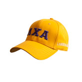 Gold Heavyweight Twill Pro Style Hat-Greek Letters Bold