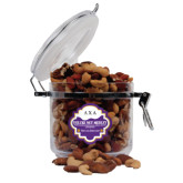 Deluxe Nut Medley Round Canister-Greek Letters