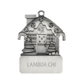 Pewter House Ornament-Lambda Chi Flat Engraved