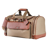 Cutter & Buck Brown Club Duffel-Greek Letters Debossed