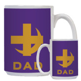 Dad Full Color White Mug 15oz-Crescent