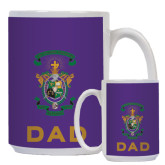 Dad Full Color White Mug 15oz-Coat of Arms