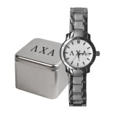 Ladies Stainless Steel Fashion Watch-Greek Letters