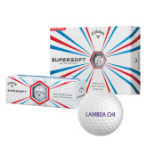 Callaway Supersoft Golf Balls 12/pkg-Lambda Chi Flat