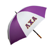 64 Inch Purple/White Umbrella-Greek Letters Bold