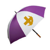 64 Inch Purple/White Umbrella-Crescent