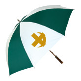 62 Inch Forest Green/White Umbrella-Crescent