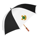 62 Inch Black/White Umbrella-Crescent Friendship Pin