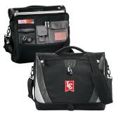 Slope Black/Grey Compu Messenger Bag-LC