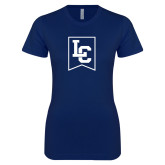 Next Level Ladies SoftStyle Junior Fitted Navy Tee-LC