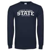 Navy Long Sleeve T Shirt-Lewis-Clark State College