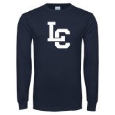 Navy Long Sleeve T Shirt-LC