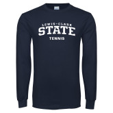 Navy Long Sleeve T Shirt-Tennis