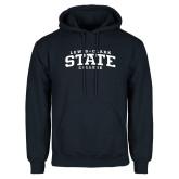 Navy Fleece Hoodie-Lewis-Clark State College