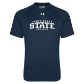 Under Armour Navy Tech Tee-Lewis-Clark State College