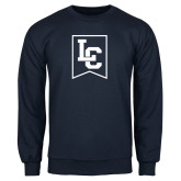 Navy Fleece Crew-LC